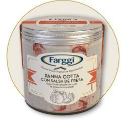 Frasco Panna Cotta con Fresa