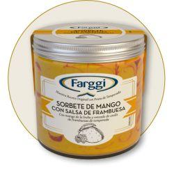 Frasco Sorbete Mango con Frambuesa